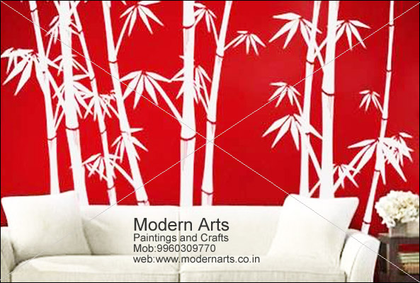 Wall Bamboo Paintings For Bedroom In Pune