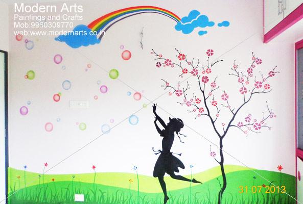 Graphics Wall Painting For Girls Bedroom Pune Mumbai