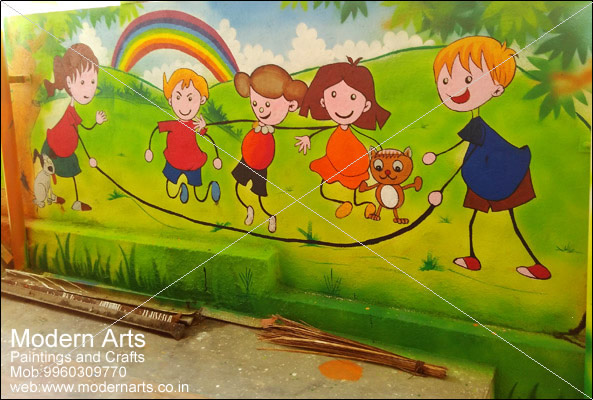 Modern Arts Paintings Crafts Does School Wall Painting In Pune