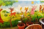 Painting artist for Play School wall painting