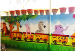 Outside School wall Painting