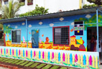 Painting artist for Play School wall painting in pune