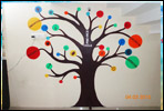 School wall painting catoon images