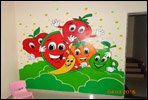 Wall painting artist for school