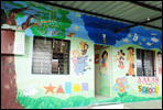 Play cshool wall painting artist in pune