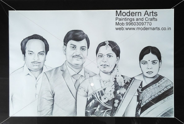 Group pencil sketch artist in pune mumbai