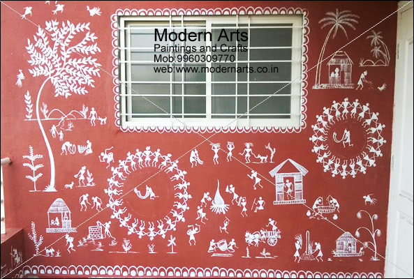 Warli Painting Designs On Wall | www.pixshark.com - Images ...