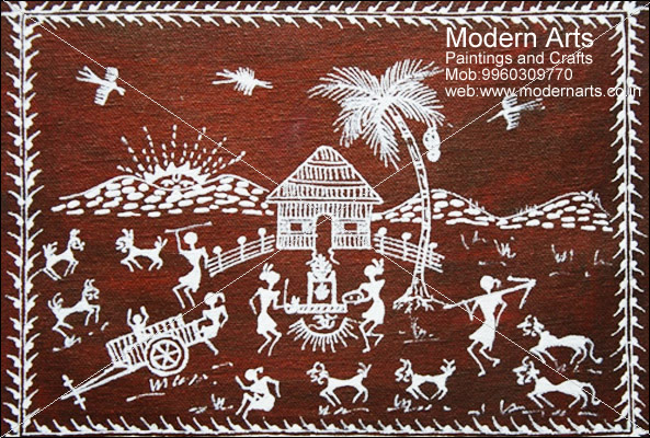 Modern arts paintings crafts does warli paintings in pune mumbai warli painting artist in pune altavistaventures Image collections