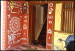 Outside warli wall painting in pune