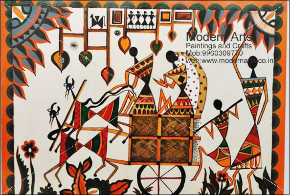Modern arts paintings crafts does warli paintings in pune mumbai warli painting design in pune altavistaventures Image collections