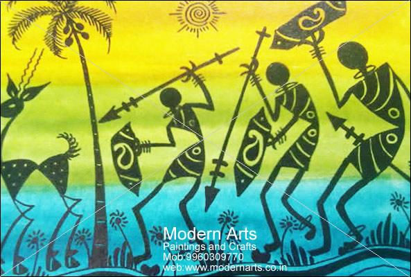Modern Arts Paintings & Crafts does Warli Paintings in Pune & Mumbai.