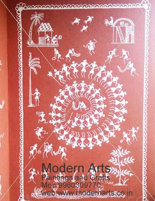 ... Wall warli painting artist ...