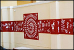 Warli painting in living room pune